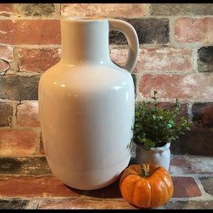 MAGNOLIA HOME Ceramic Jug Vase. Discontinued HTF